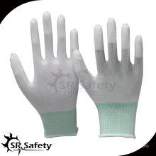 SRSAFETY 13 gauge PU coated finger gloves/Electrical gloves/top glove