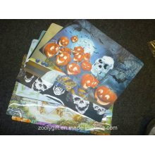 Skull Design Printing PP Table Placemat