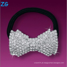 Elegante banda de cristal de cabelo francês, faixa de cabelo extravagante para senhoras, faixa de cabelo de jóias