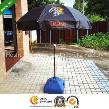 36-Zoll-schwarze Beschichtung Outdoor Sonnenschirm für Werbung (BU-0036B)