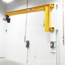 Steel workshop using wall-mounted jib crane 1.5ton
