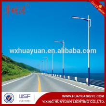 Q345 acero LED calle post poste de lámpara de acero galvanizado en caliente dip fabricante de 6m, 7m, 8m, 9m, 10m, 11m, 12m, 13m altura