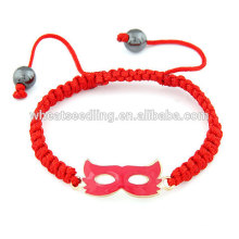 Vermelho, Partido, máscara, vermelho, corda, sortudo, pulseira