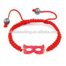 Красный участник маска для лица красный веревка счастливый браслет
