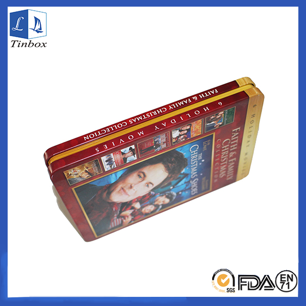 Estuches rectangulares de caja de estaño para DVD