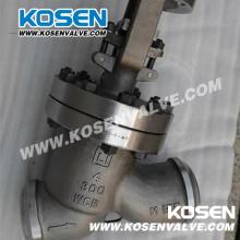 Tipo Y Válvulas de globo de acero fundido (J45)