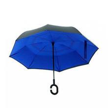 Retro beach umbrella blue
