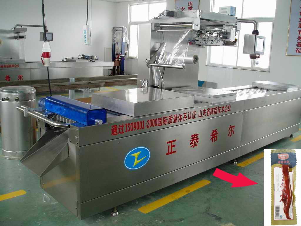 Cheap Frozen Chicken Feet Thermoforming Vacuum Packing Machine