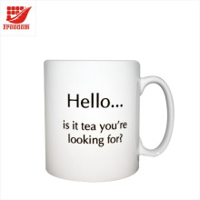 Tasse de café en céramique imprimée de logo promotionnel