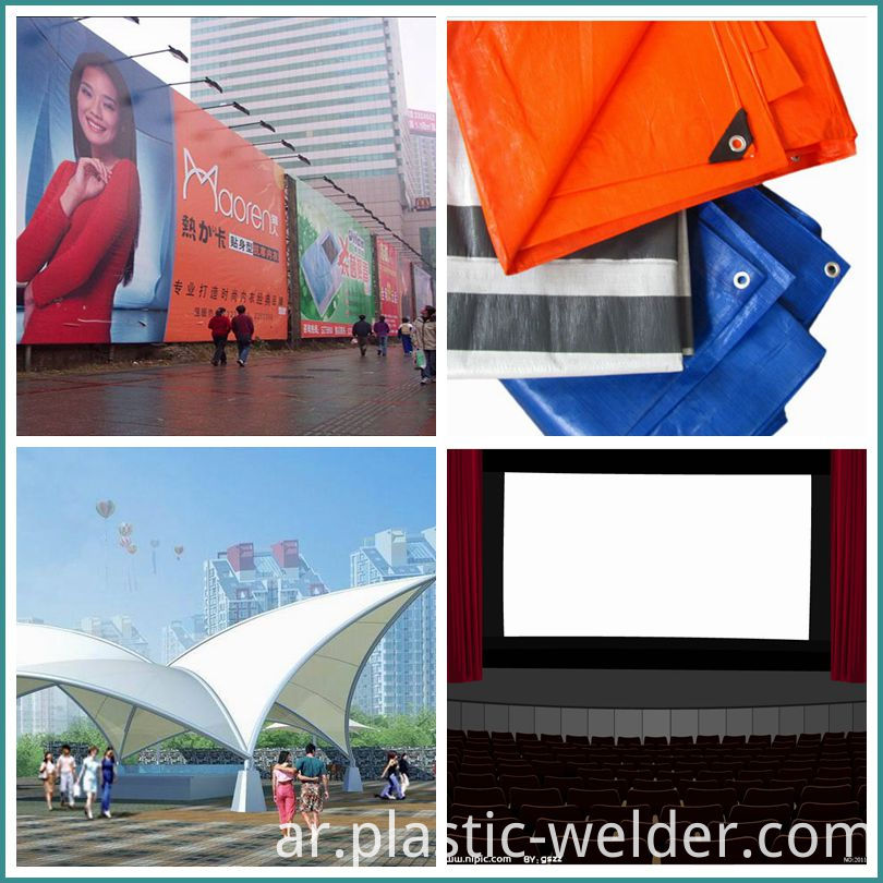 Tarpaulin/advertising cloth welding machine