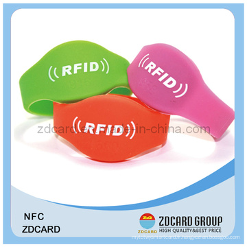 Bracelet étanche à la silicone Nfc Silicon RFID Wristband Soft