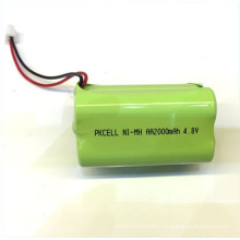 OEM de alta calidad del paquete de la batería de Nimh 4.8v Aa 2200mah recargable