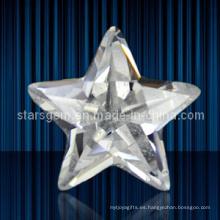 Joyería de moda conjunto forma de estrella cúbicos zirconia