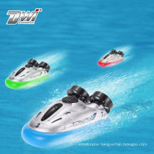 DWI kids remote control ship toy 4ch mini model rc fishing boats for sale