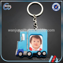 fashion epoxy poto fram key chain with custom logo