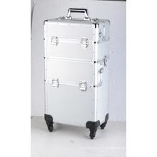 Caisse de vol de chariot d'instrument en aluminium
