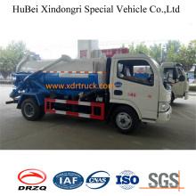 Modelo de Dongfeng del camión cisterna de las aguas residuales de la succión 4cbm