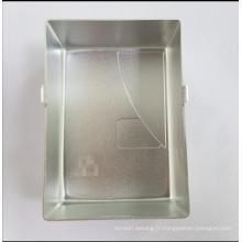 Pièces en aluminium de tôle et impression en soie / brossage