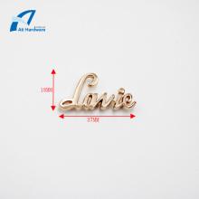 Высокое качество Мода Логотип Металлические украшения Сумочка Этикетка