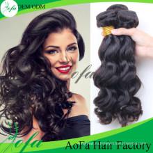 7А класс объемная волна бразильского Виргинские волос Remy человеческих волос уток