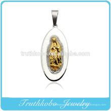 Truthkobo Casting 316l Acero inoxidable de gama alta María Madre de Cristo Dios Oración Joyería