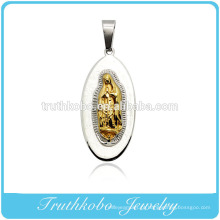 Truthkobo Casting Aço Inoxidável 316l High-end Mary Mãe de Cristo Deus Oração Jóias
