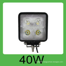 CE and ROHS certification 40W iP68 DC-10V-30V car LED work lamp,3 years warranty