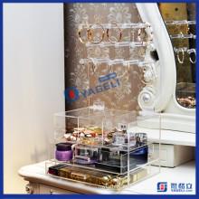 Embellecer claro maquillaje cosméticos organizador titular soporte del collar
