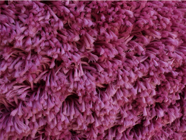 Polyester Microfiber Shaggy Rug Pink Color