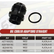 Oil cooler adaptors straight or angle