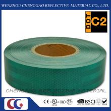 Oscuro diamante verde grado seguridad cinta reflectante para el tráfico (CG5700-OG)