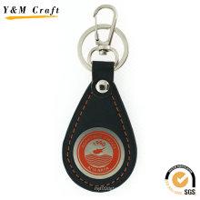 Porte-clé en cuir fait sur commande de cadeau promotionnel de vente chaude pour Noël