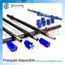Hex22*108mm Taper Drill Steel Rod for Rock Drilling