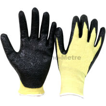 NMSAFETY anti coupe et feu travail utilisent 13g Aramid fibres coupe résistant gants de travail