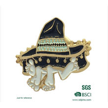 Metal Psychic Hat Soft Enamel Pin Badge for Souvenir (xd-08265)