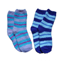 Women Fuzzy Sock with Stripes Fs-32