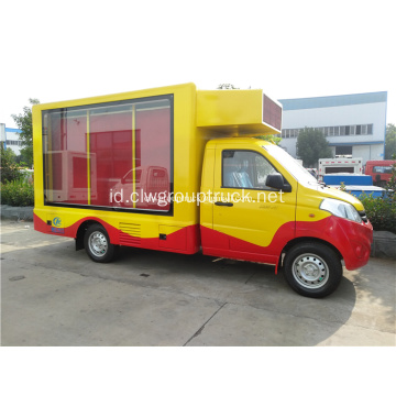 Advertising Truck Trailer terpasang layar Led Mobile