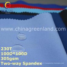 Tissu polaire bi-élastique de Spandex de polyester pour des vestes de vêtement (GLLML251)