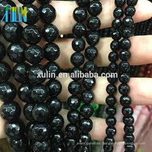 Ágata facetada natural 4MM los 6MM los 8MM los 10MM granos indios de la piedra preciosa de la piedra preciosa para hacer la joyería