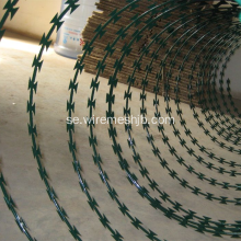 Grön Färg PVC Coated Concertina Razor Wire