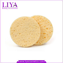 Free sample custom shape exfoliating cellulose yellow face cleaning sponge