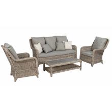 Mobília ao ar livre do Rattan Lounge vime sofá conjunto jardim