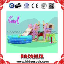 Daycare Center Indoor Play Slide e Swing para criança