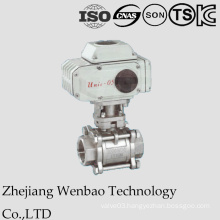 Electirc 3PC Female Thread Industrial Ball Valve with Actuator