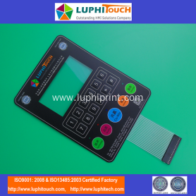 LUPHITOUCH Exhibition Embossing Tactile Membrane Keypad