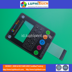 LUPHITOUCH Pameran Embossing Tactile Membrane Keypad