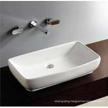 Bathroom One Hole Counter Top Sink Hand Wash Basin Art Bowl in White