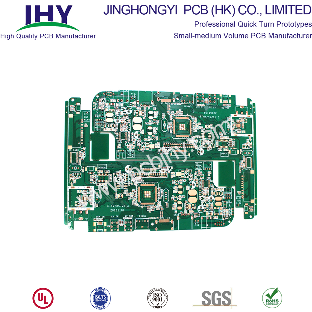 "ENIG 1u"" Green 2 Layer PCB Prototype"