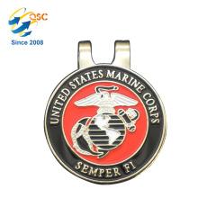 Personalisierte Logo Metall Custom Metall Golfball Magnet Hut Clip Ball Mark