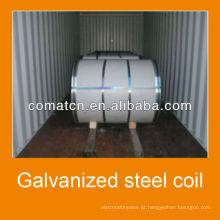 Qualidade principal Aluzinc galvanizado bobina de aço AZ100g/m2, aço Galvalume, planta de China